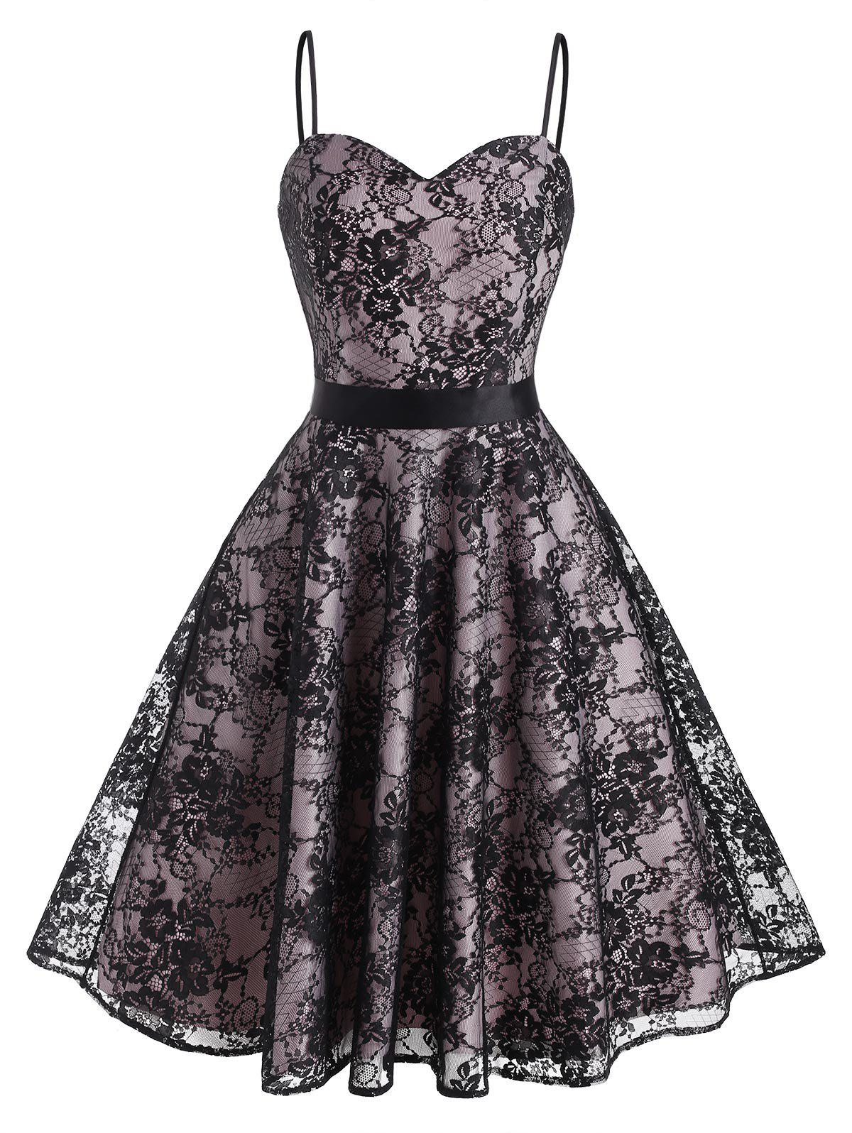 Chic Cami Lace Back Zipper Party Dress