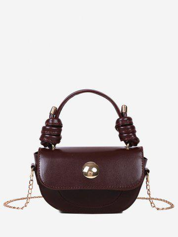 Knotted Handle Chain Saddle Bag