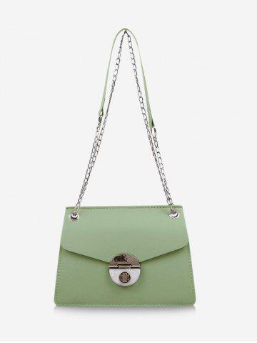 Cover Chain Hasp Shoulder Bag - LIGHT GREEN