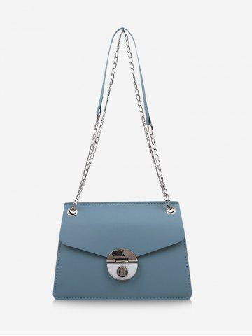 Cover Chain Hasp Shoulder Bag - BABY BLUE