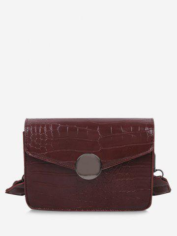 Casual Cover Twist Strap Crossbody Bag - BROWN