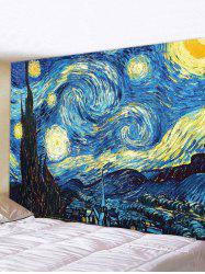 Starry Night Print Wall Tapestry -
