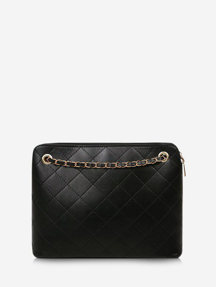 Outfits Rhombus Stitching Square Chain Shoulder Bag