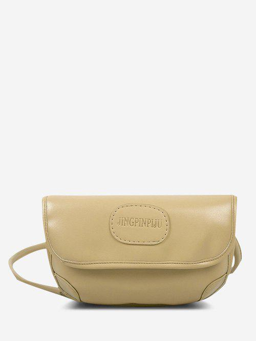 Unique Embossed Letter Pattern Cover Crossbody Bag