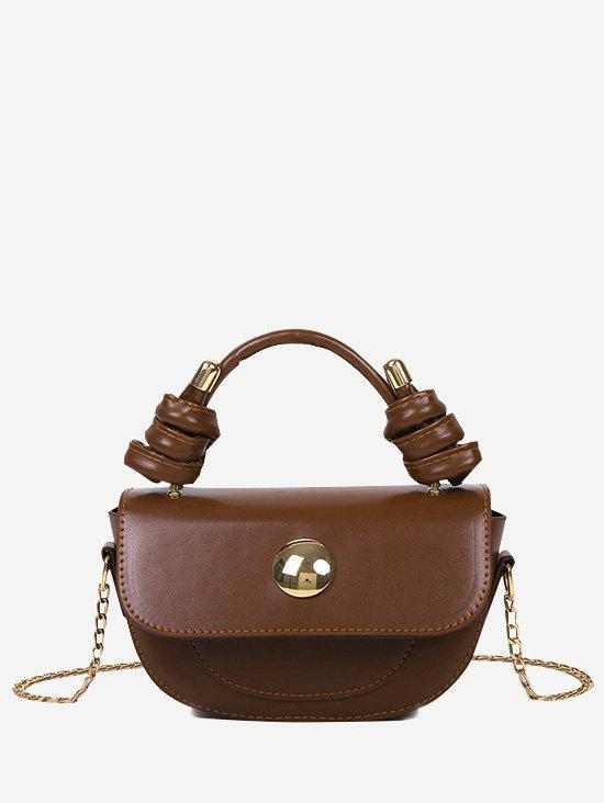 Hot Knotted Handle Chain Saddle Bag