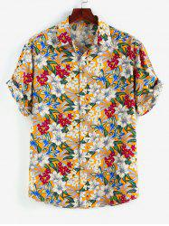 Allover Floral Print Button Up Shirt -