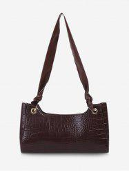 Solid Textured Knotted Shoulder Bag -