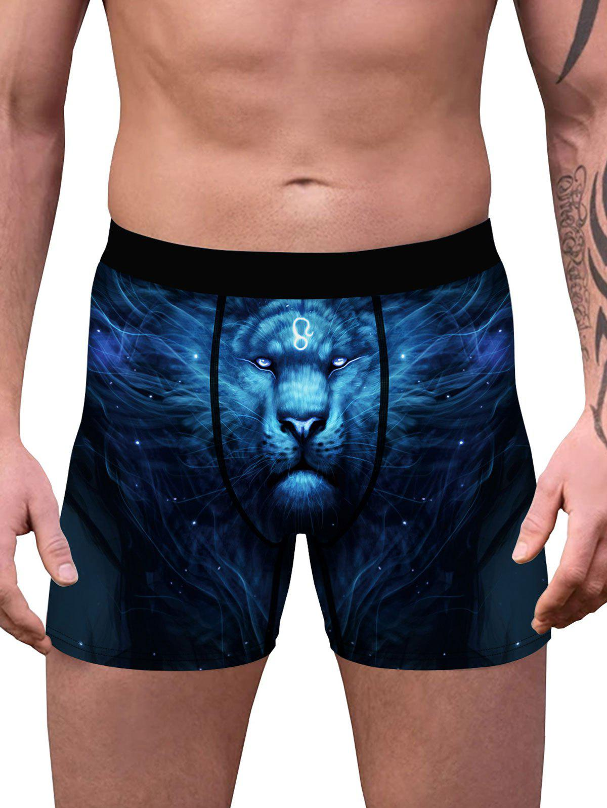 Chic Galaxy Lion 3D Print Boxers