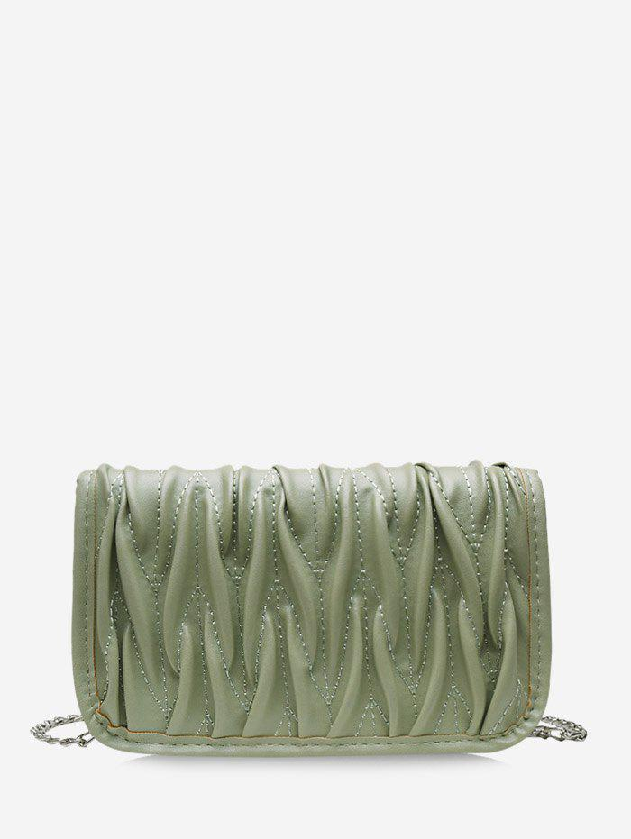 Chic Pleated Chain Cover Crossbody Bag