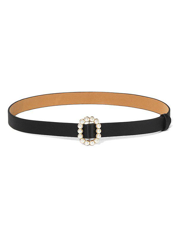 Buy Faux Pearl Oval Dress Decorative Buckle Belt