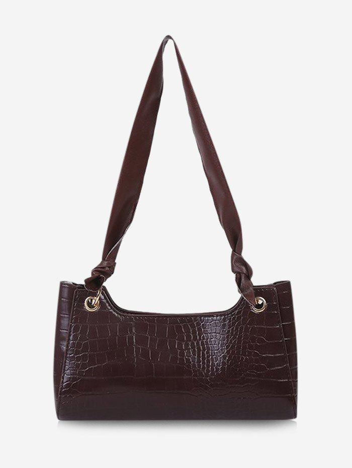 Unique Solid Textured Knotted Shoulder Bag