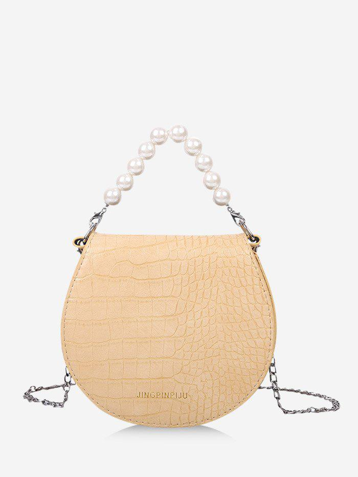 Trendy Faux Pearl Handle Chain Strap Handbag