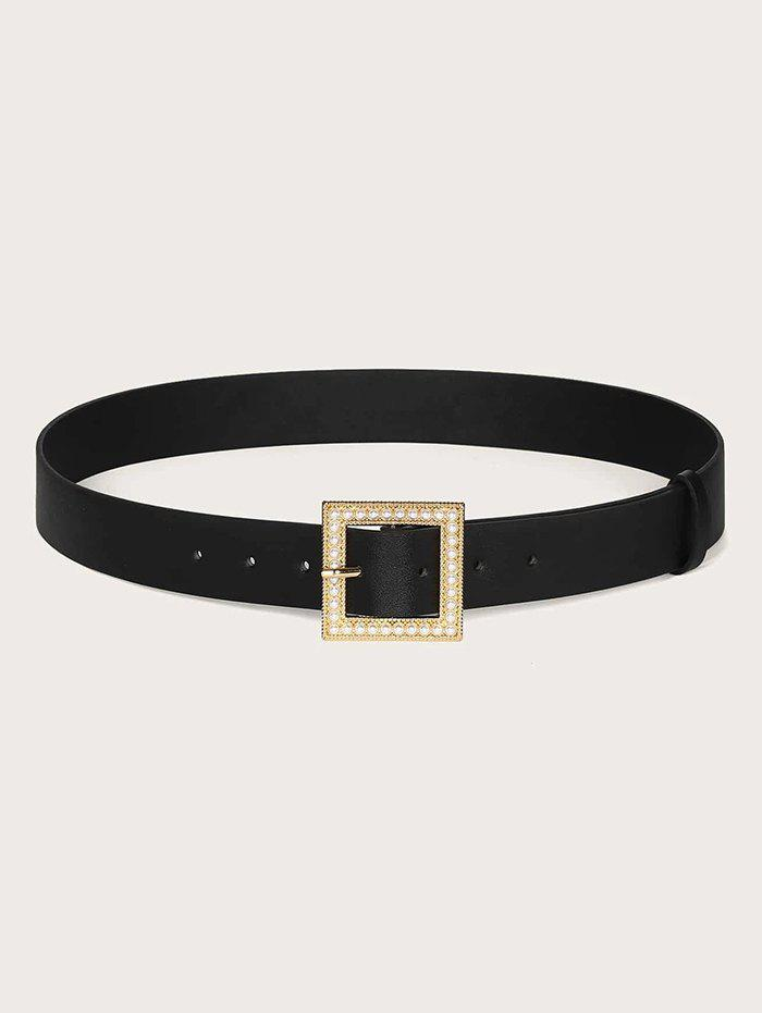 Shop Square Faux Pearl Pin Buckle Belt