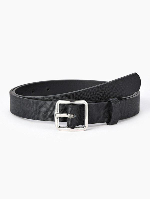 Unique Brief Square Pin Buckle Jeans Textured Belt