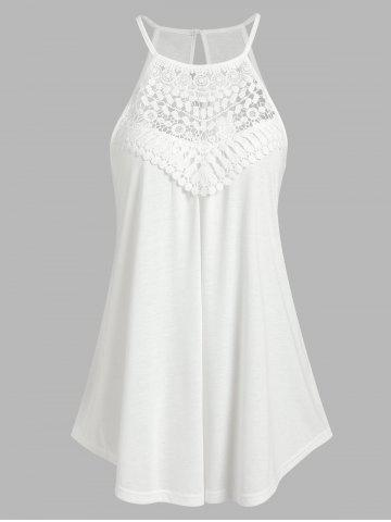 Cut Out Lace Insert Cami Top