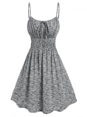 Ruched Bust Space Dye Dress