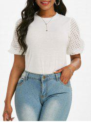 Broderie Anglaise Puff Sleeve T-shirt -