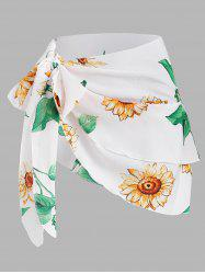 Multiway Tied Sunflower Layered Cover Up -