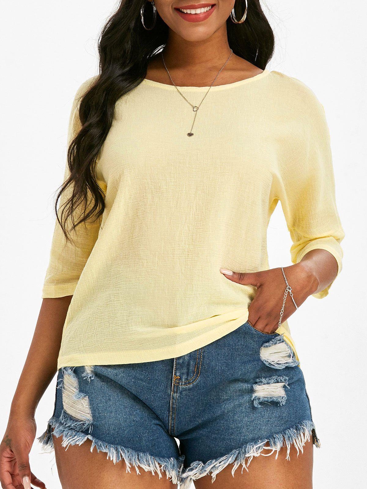 Store Dolman Sleeve Solid Blouse