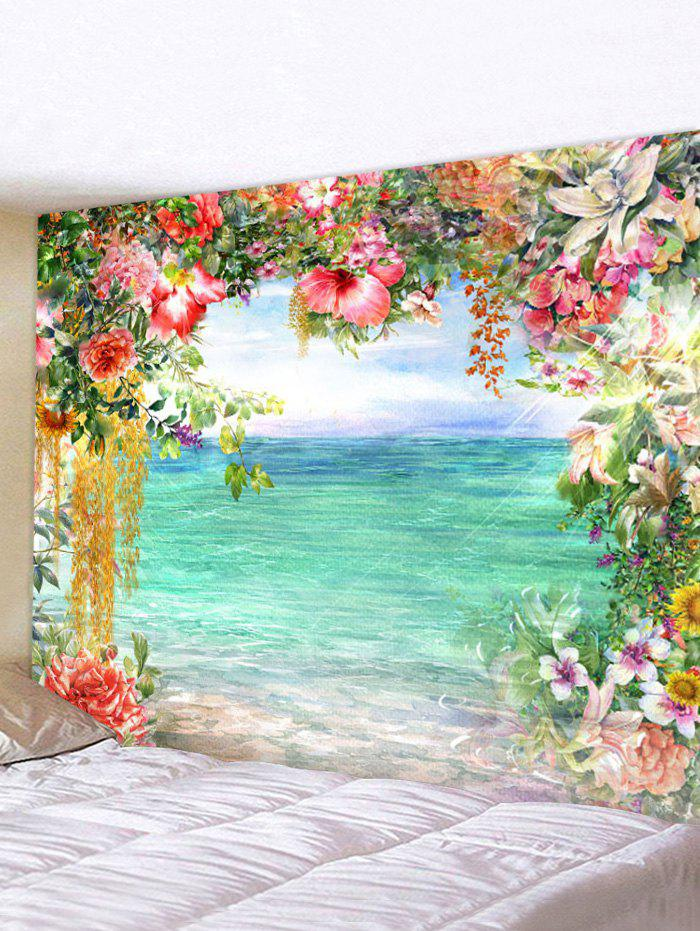 Flower Lake 3D Print Wall Tapestry