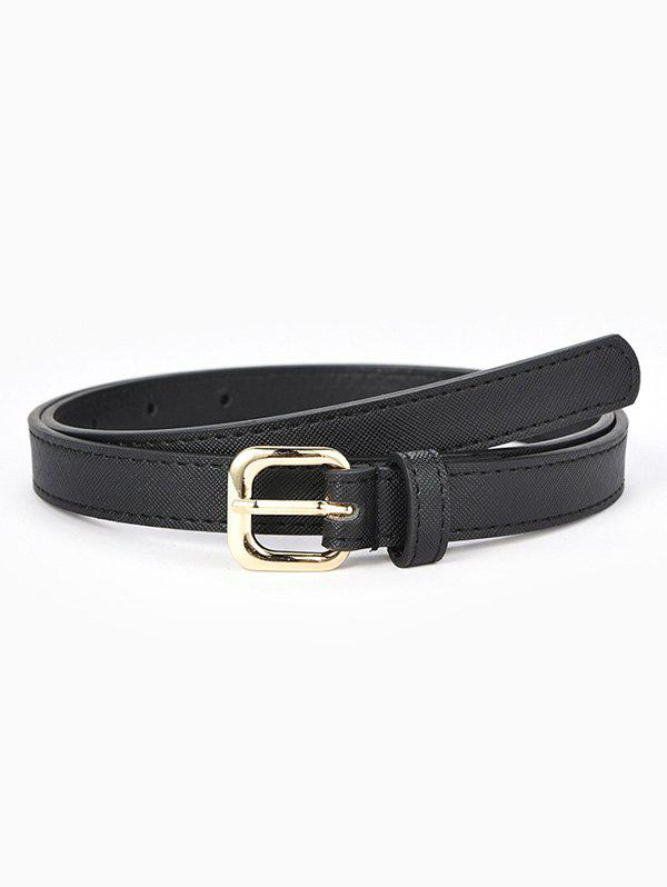 Buy Textured Stitching Sleek Rectangle Buckle Belt