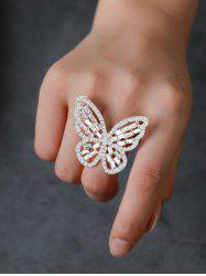 Butterfly Hollow Out Rhinestone Open Ring -