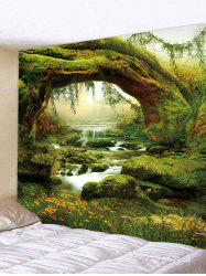 Tree Brook 3D Print Wall Tapestry -
