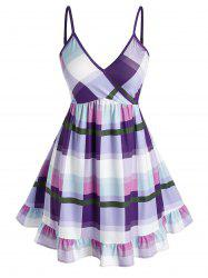 Plus Size Checked Flounce Cami Tank Top -