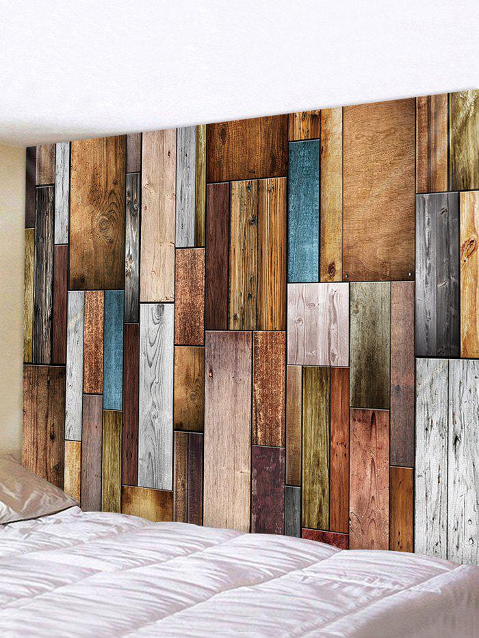 Cheap Wooden Plank 3D Print Wall Tapestry