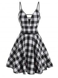Gingham Ladder Cut Cami Dress -
