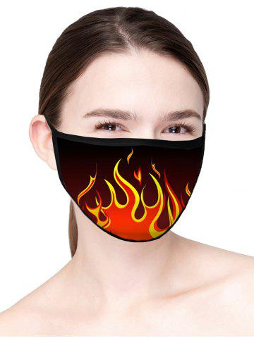 Flame Pattern Air Layer Fabric Anti-dust Face Mask