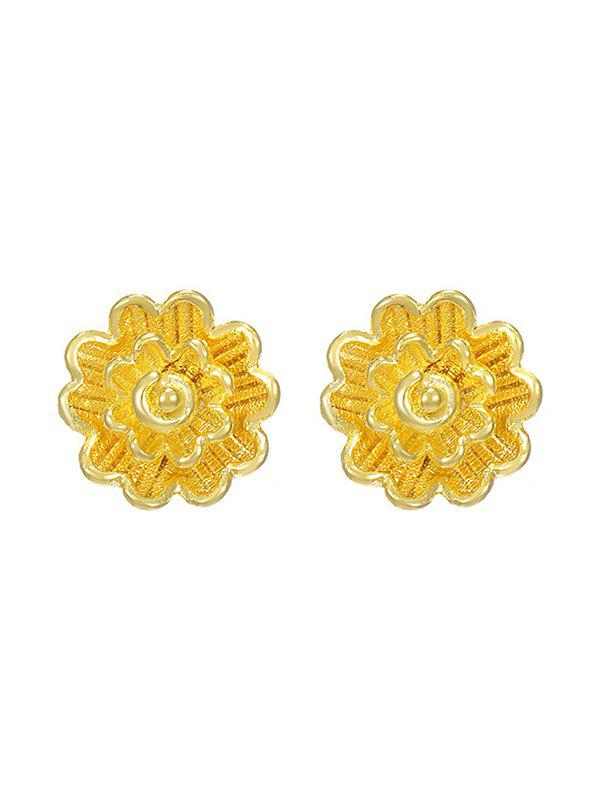 Shops Layered Flower Shape Gold Plated Stud Earrings