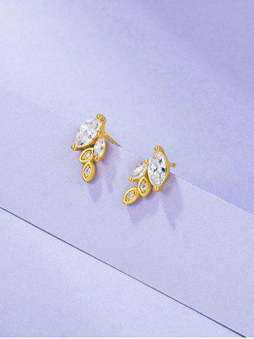 Aretes Gemas Falsas y Brillantes - GOLDEN