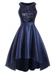 Glitter Sequined High Low Party Dress -