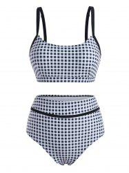 Gingham High Rise Tank Bikini Swimwear -