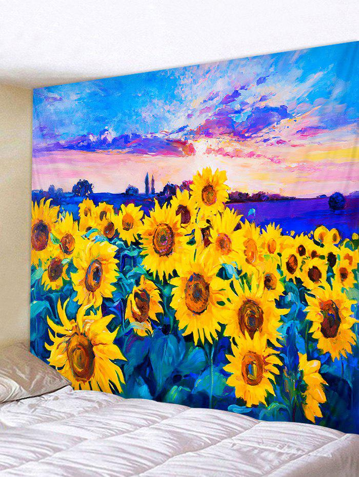 Shops Oil Painting Sunflower Pattern Wall Tapestry