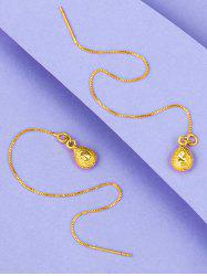 Golden Linear Water Drop Earrings -