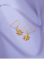 Gold Plated Snowflake Shaped Drop Earrings -