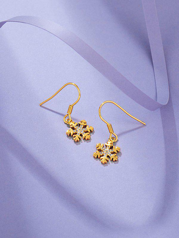 Outfits Gold Plated Snowflake Shaped Drop Earrings