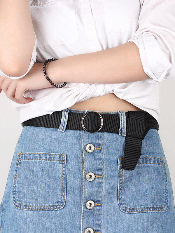 Latest Brief Ring Buckle Canvas Belt