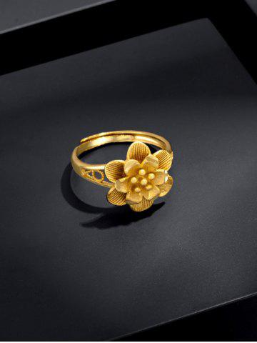 Gold Plated Layers Flower Open Ring