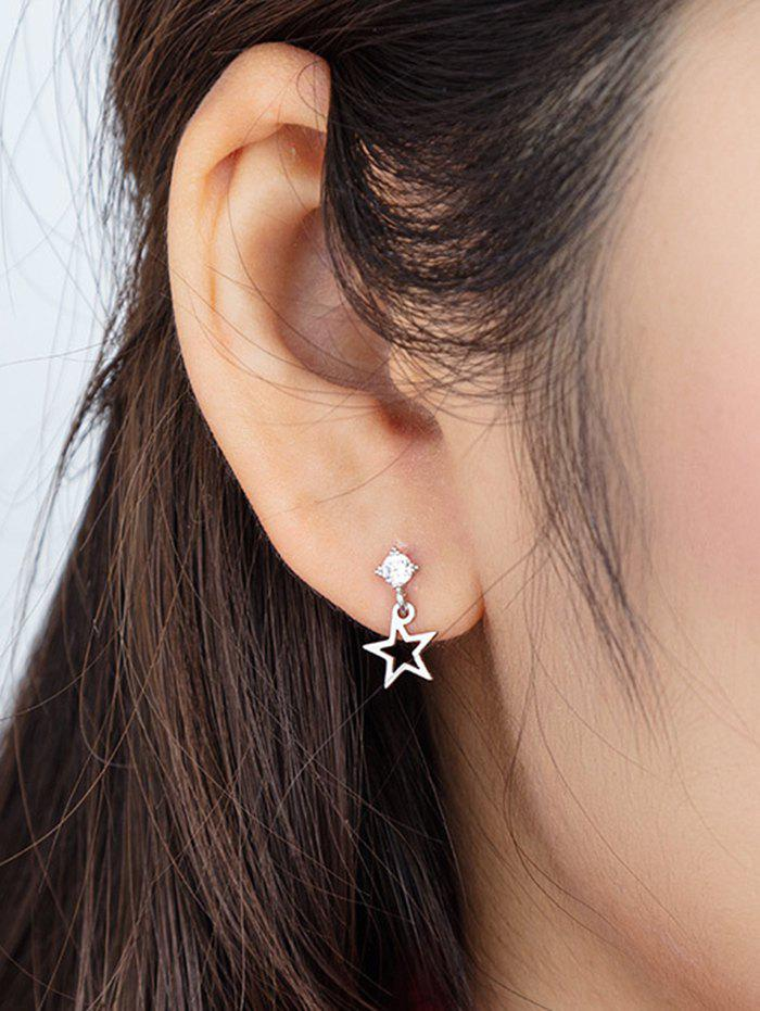 Outfits Hollow Star Pendant Stud Earrings