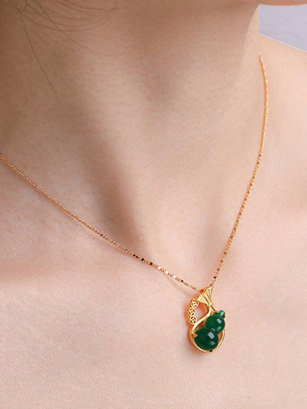 Fashion Gourd Pendant Hollow Gold Plated Necklace