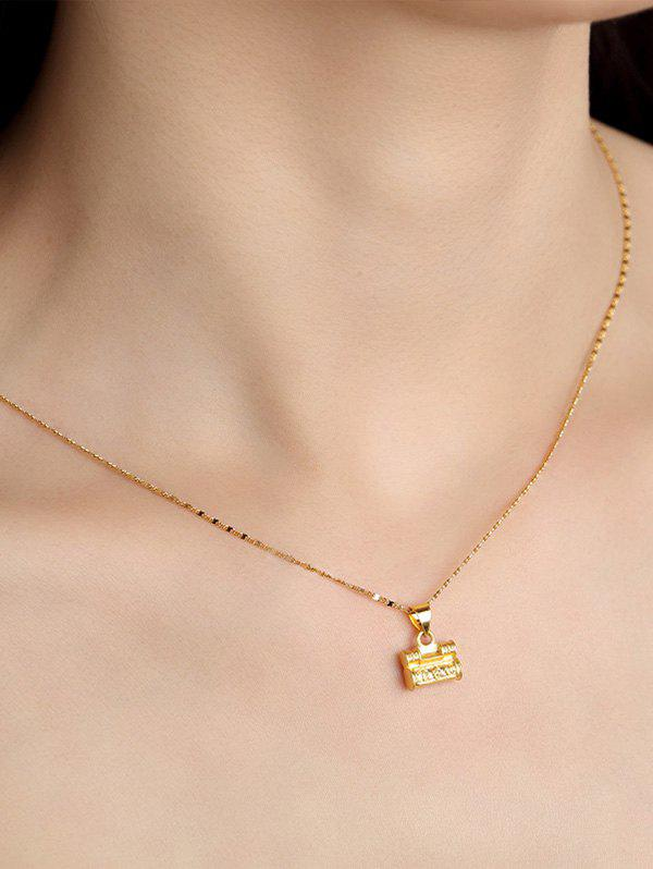 Latest Carved Lock Pendant Gold Plated Necklace