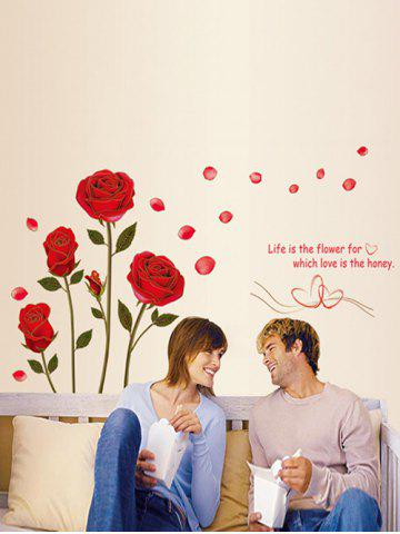 Rose Pattern Decorative Valentine's Day Wall Stickers