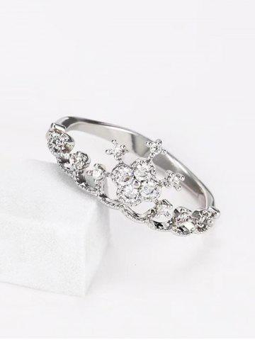 Hollow Crown Shape Rhinestone Ring