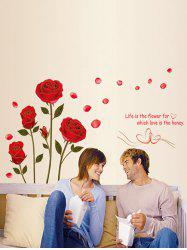 Rose Pattern Decorative Valentine's Day Wall Stickers -