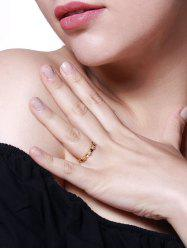 Heart-Shaped Zircon Inlaid Finger Ring -