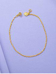 Twist Chain Bell Waterdrop Charm Anklet -