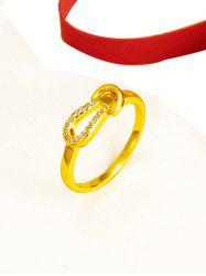 Zircon Inlaid Knot Finger Ring -